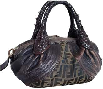 Fendi Spy Brown Cloth Handbags