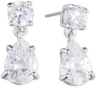 Givenchy Silver-Tone Crystal Pear-Shape Earrings