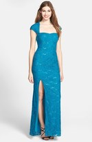 Adrianna Papell Embellished Lace Gown (Online Only)