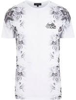 River Island MensWhite Santa Cruz floral print t-shirt