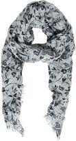Destin Surl Floral Printed Woven Linen Scarf
