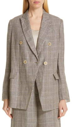 Brunello Cucinelli Prince of Wales Double Breasted Jacket