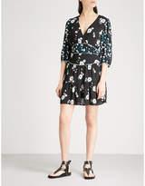 BA&SH Belize printed crepe mini dress