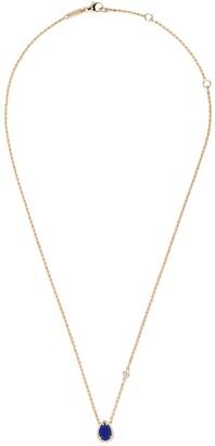 Boucheron 18kt yellow gold Serpent Boheme diamond and lapis lazuli teardrop XS motif pendant necklace