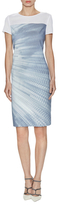 Elie Tahari Cassie Printed Dress with Mesh Trim