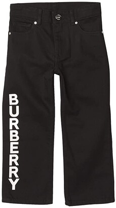 BURBERRY KIDS Aldric Trousers (Little Kids/Big Kids) (Black) Boy's Casual Pants