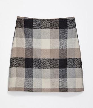 LOFT Checked Shift Skirt