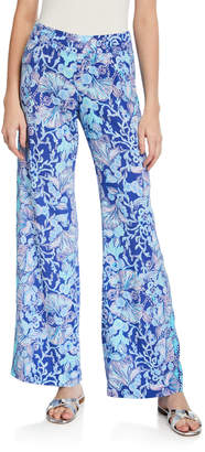 Lilly Pulitzer Bal Harbour Mid-Rise Palazzo Pants