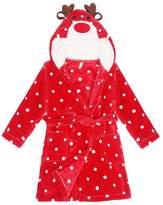 Child Bathrobe Christmas Deer Hooded Pajamas 3D Cartoon Animal Towel For Boys Girls Sleepwear Vine