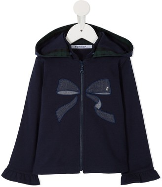 Familiar Bow Embroidered Hoodie