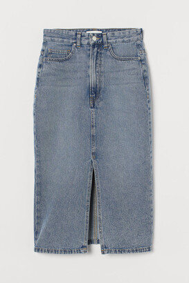 H&M Denim Slit Skirt - Blue