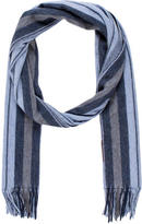 Tod's Striped Cashmere Scarf