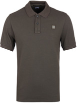 Cp Company Olive Green Pique Polo Shirt