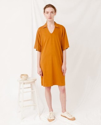 Beaumont Organic Rust Luana Organic Cotton Dress - Rust / Medium - Orange