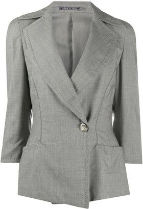 Gianfranco Ferré Pre Owned 1990s Off-Centre Fastening Jacket