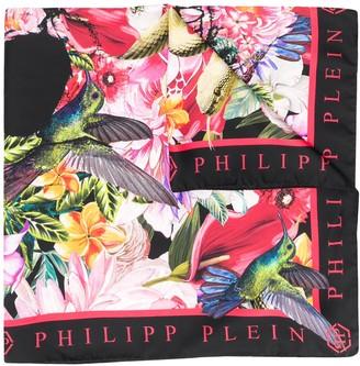 Philipp Plein Skull And Roses Scarf