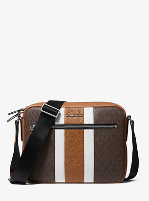 Michael Kors Hudson Logo Stripe Camera Bag