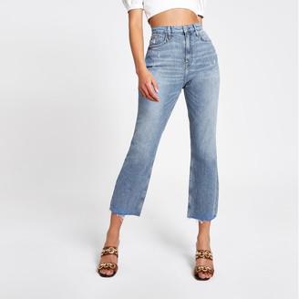 River Island Womens Mid Blue straight leg jeans