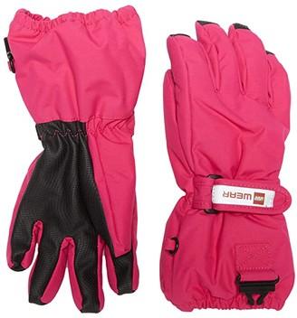 Lego Snow Gloves with Anti-Slip Grip Membrane (Little Kids/Big Kids) (Dark Pink) Over-Mits Gloves