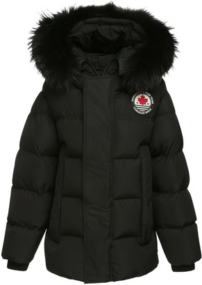 DSQUARED2 Hooded Down Jacket W/ Logo