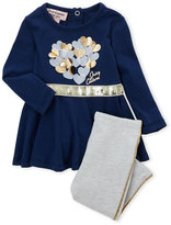 Juicy Couture Newborn Girls) Two-Piece Metallic Heart Top & Leggings Set