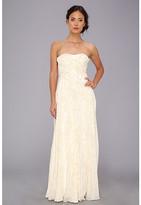 Badgley Mischka Lurex Threaded Strapless Gown