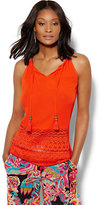 New York & Co. 7th Avenue Design Studio - Tassel Detail Halter Blouse