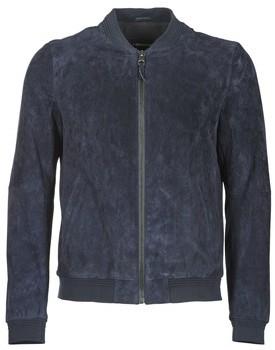 Redskins DEAN men's Leather jacket in Blue
