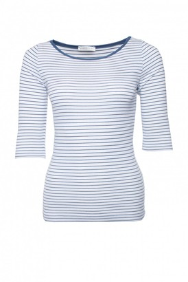 Whistles Blue Cotton Top for Women