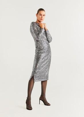 MANGO Tweed skirt slt