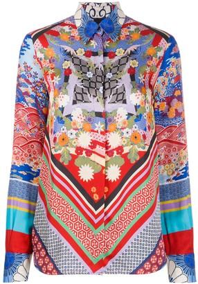 Pinko geometric print blouse