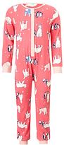 John Lewis Children's Polar Bear Jersey Onesie, Pink