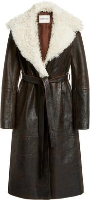 Sandy Liang Planet Shearling Wrap Coat