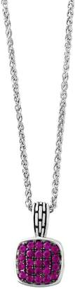 Effy Sterling Silver Ruby Pendant Necklace