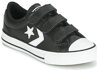 Converse STAR PLAYER EV 3V LEATHER OX girls's Shoes (Trainers) in Black