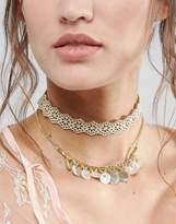 Asos Double Row Cut Out Choker Necklace