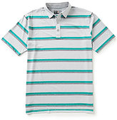 Callaway Golf Big & Tall Heather Striped Short-Sleeve Polo Shirt