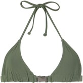 Gloria Coelho buckle triangle bikini top
