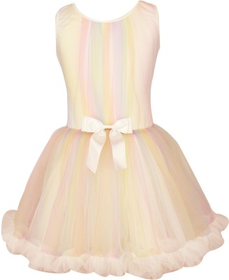 Popatu Rainbow Stripe Tulle Dress