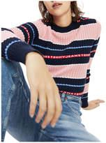 Tommy Jeans Logo Stripe Cable Knit Jumper