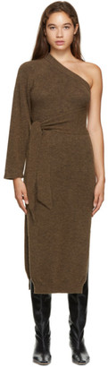 Nanushka Brown One-Shoulder Cedro Dress