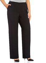Vince Camuto Plus Side Zip Wide Leg Flat Front Solid Pants