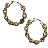T Tahari Yellow Gold Chain-Link Hoop Earrings