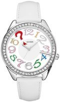 GUESS GUESS? Women's U11066L1 Leather Quartz Watch with Dial