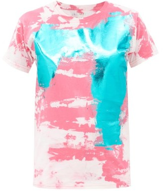 Germanier - Metallic Tie Dye-print Cotton-jersey T-shirt - Pink Multi