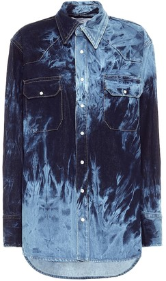 Matthew Adams Dolan Tie-dye denim shirt