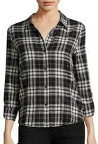 Generation Love Roberta Lace-Up Plaid Shirt