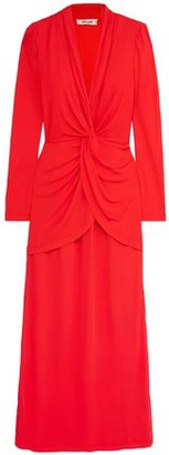 Diane von Furstenberg Stacia Twist-front Crepe Maxi Dress