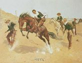 Remington Art Poster Print - Turn Him Loose Bill - Artist: Frederick S. Poster Size: 20.25 X 15.5 inches