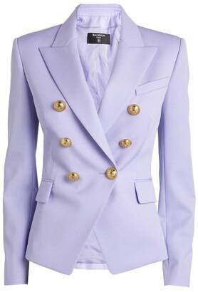 Balmain Double-Breasted Grain De Poudre Jacket